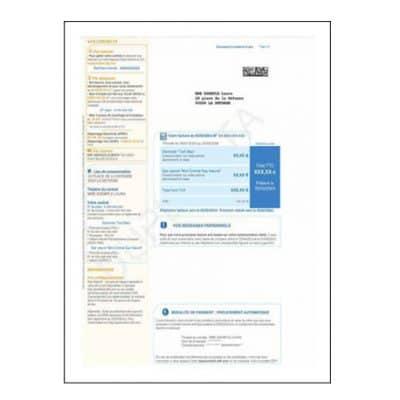 Traduction assermentée facture EDF - GDF - Telecom